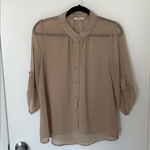 2/$15: F21 Sheer Button Up Blouse